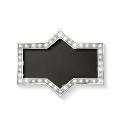 cinema silver shape frame vector image