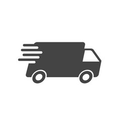 Delivery truck fast delivery service shipping vector