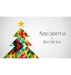 Diversity mosaic arty Christmas Tree vector image vector image