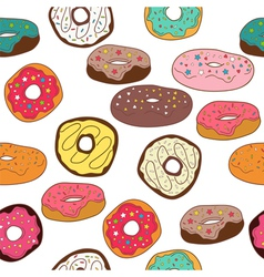 Donuts seamless pattern background vector