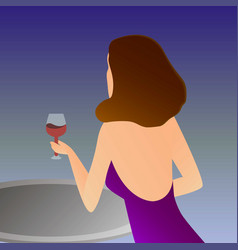 elegant woman with vector image