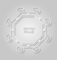 frame in trendy outline style relief effect vector image vector image