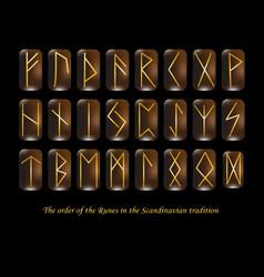 Golden rune metal runes vector
