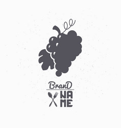 Hand drawn silhouette of grape bunch vector