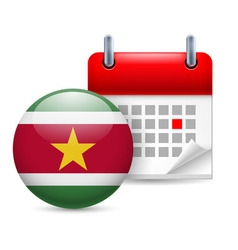 Icon of national day in suriname vector