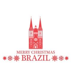 Merry christmas brazil vector