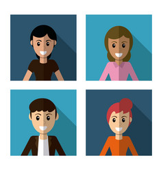 People character female male image vector