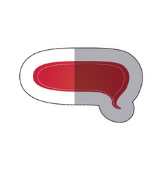 red chat bubble icon vector image
