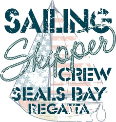Sailing crew vector image vector image