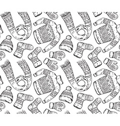 Seamless pattern with winter holiday elements vector