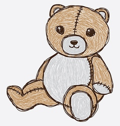 sketch cute bear vector image vector image
