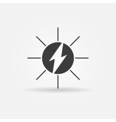 Solar energy black icon vector image vector image