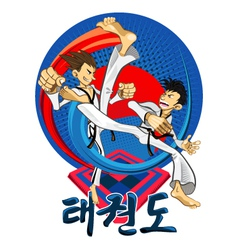 Taekwondo Tae Kwon Do Korean Martial Art vector image vector image