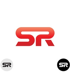 Two letters s and r ligature logo dynamic sport vector