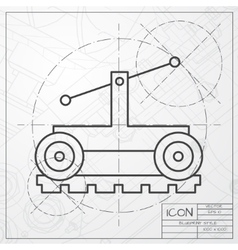 Vetor color flat trolley icon epsclassic vector