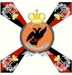 White flag Tauride Grenadier Regiment vector image vector image