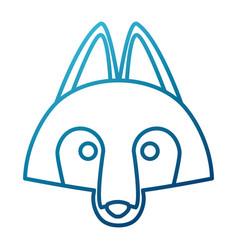 wolf cartoon animal vector image