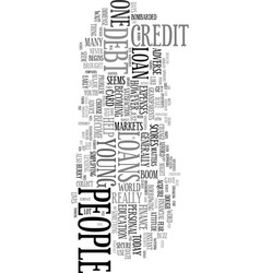 Young folk with debt issues text word cloud vector