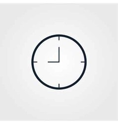 Time clock icon simple vector