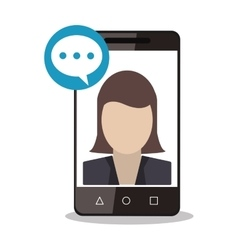Smartphone and social media design vector
