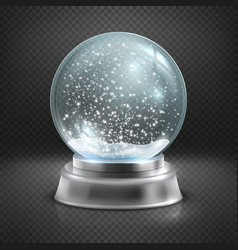 Christmas snow globe isolated on transparent vector