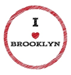 Slogan - i love brooklyn eps vector
