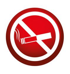 Dont smoking signal icon vector