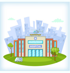Hospital concept cartoon style vector