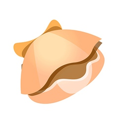 Icon clam vector