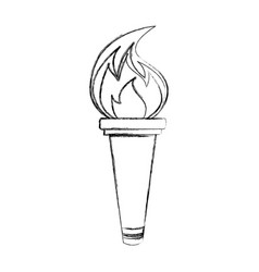 olympic torch isolated icon vector image