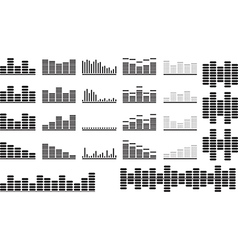 Music equalizer set vector
