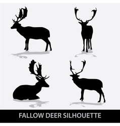 Fallow deer silhouette icons eps10 vector