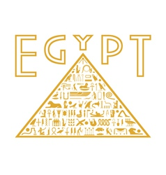 Pyramid of the hieroglyphs vector