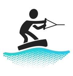 Wake boarding icon vector image