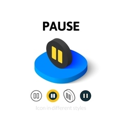 Pause icon in different style vector