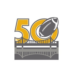 Pro football championship 50 ball bridge vector