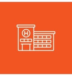 Hospital building line icon vector