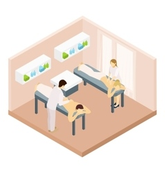 Massage room isometric vector