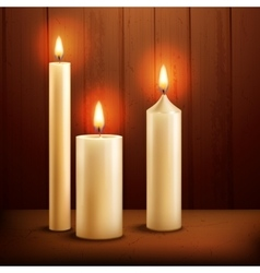 Candles realistic background vector