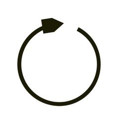 Black refresh arrow icon vector image