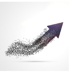 Abstract arrow design made with particles vector