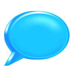 Blue blank speech bubble icon vector