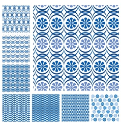 Blue seaml set 3 380 vector