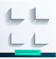 Box shadow transparent set with realistic soft vector