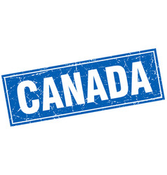 Canada blue square grunge vintage isolated stamp vector