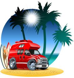 Cartoon Camper vector image
