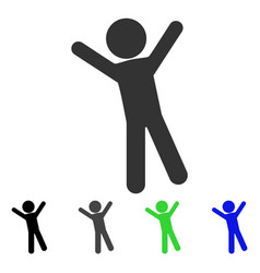 Child joy flat icon vector