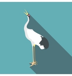Chinese crane icon flat style vector