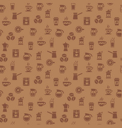 Coffee seamless pattern background with icons vector