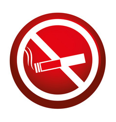 Dont smoking signal icon vector